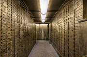 Safekeeping Posters - Bank Safe Deposit Boxes Poster by David Gn