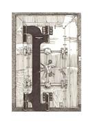 1903 Herring Hall Marvin Bank Vault Safe Co Print by Jack Pumphrey