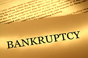 Finance Photo Prints - Bankruptcy Notice Print by Olivier Le Queinec