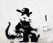 Ghetto Prints - Banksy Boombox  Print by A Rey