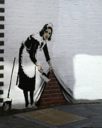 Banksy Maid Print by A Rey
