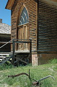 Bannack State Park Photos - Bannack Church by Bruce Gourley