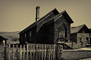 Bannack State Park Photos - Bannack Church by Frank Burhenn