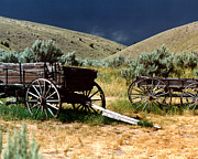 Bannack State Park Photos - Bannack Wagons by Jill Courtney