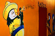 Graffiti Wall Art Posters - Banos Peurto Penasco Mexico Poster by Bob Christopher
