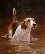 Pastel Dog Paintings - Banquet by John Silver