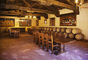 Laboring Prints - Banquet Room Castello di Amarosa Winery Print by Craig Lovell
