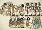 Ballet Dancers Photo Prints - Banquet Scene. Ca. 1350 Bc. 18th Print by Everett