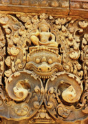 Cambodia Photos - Banteay Srei Carving 01 by Rick Piper Photography