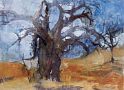Baobab Paintings - Baobab noon by Wendy Rosselli