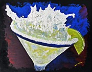 Man Cave Painting Framed Prints - Bar - Drink - Sloppy Martini Framed Print by Donna E Pickelsimer