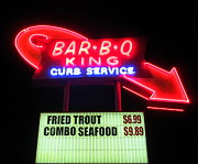 Charlotte Metal Prints - Bar B Q King In Charlotte N C Metal Print by Randall Weidner
