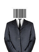 Purchase Mixed Media Posters - Bar code man Poster by Shawn Hempel