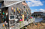 Buoys Prints - Bar Harbor Restaurant Print by Betty LaRue