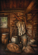 Barrels Photo Framed Prints - Bar - Weighing the hops Framed Print by Mike Savad