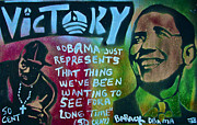 Conservative Painting Prints - BARACK and FIFTY CENT Print by Tony B Conscious