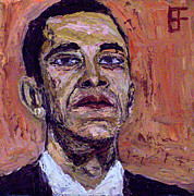 Barack Obama Oil Paintings - Barack Hussein Obama by Brian Forrest