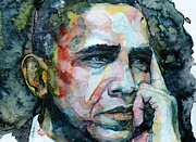 President Paintings - Barack by Laur Iduc