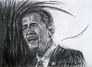 Barack Obama 1 Print by Michael Morgan