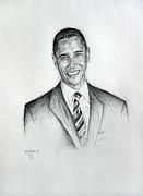 Barack Obama 2 Print by Michael Morgan