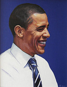Barack Obama Oil Paintings - Barack Obama 2008 by James Kelly