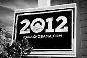 Barack Framed Prints - Barack Obama 2012 Us Presidential Election Poster Florida Usa Framed Print by Joe Fox