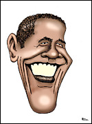 Barack Obama Digital Art Prints - Barack Obama Print by Bill Proctor
