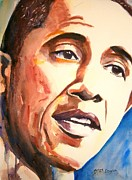 Politicians  Painting Originals - Barack Obama by Brian Degnon