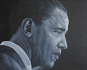 Barack Obama Metal Prints - Barack Obama Metal Print by David Dunne