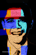 Barack Obama Digital Art Framed Prints - Barack Obama Framed Print by Esmeralda  Sanguino