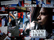 Obama Mixed Media Prints - Barack Obama Print by Isis Kenney
