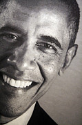 Barack Obama Up Close Print by Cora Wandel