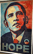 Barack Obama Metal Prints - Barack Obamas Hope Metal Print by Cora Wandel