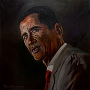 44th President Prints - Barak Obama Print by Paul Whitehead