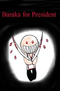 Nintendo Digital Art - Baraka for President by Marisela Mungia