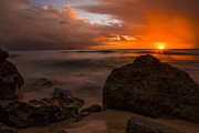 Waves Art - Barbados Sunset by Matt  Trimble