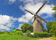 Greater Antilles Posters - Barbados Windmill Poster by Verena Matthew