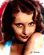 Celebrity Paintings - Barbara Stanwyck by Allen Glass