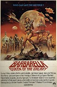Movies Digital Art Framed Prints - Barbarella Queen of the Galaxy Poster Framed Print by Sanely Great