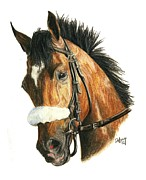 Thoroughbred Race Paintings - Barbaro by Pat DeLong