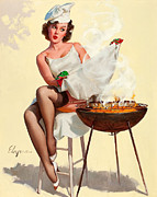Gil Elvgren - Barbecue Pin-Up Girl