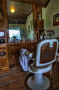 Custom Mirror Prints - Barber - Time for a Cut II Print by Lee Dos Santos