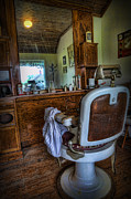 Hair Dresser Framed Prints - Barber - Time for a Cut  Framed Print by Lee Dos Santos