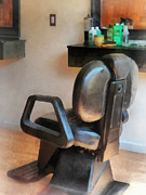 Barber - Barber Chair And Hair Supplies Print by Susan Savad