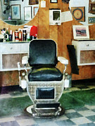 Hairdressers Posters - Barber - Barber Chair Front View Poster by Susan Savad