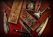 Vintage Barber Prints - Barber - Barber Tools of the Trade Print by Paul Ward