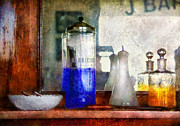 Water Jars Metal Prints - Barber - Blueberry flavored thanks for asking Metal Print by Mike Savad