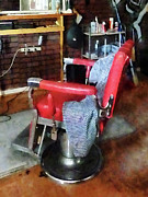 Profession - Barber - Barber - Red Barber Chair by Susan Savad