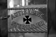 Antiseptic Prints - Barber Shop 15 BW Print by Angelina Vick