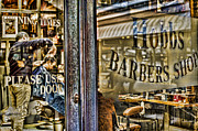 Groom Posters - Barber Shop Poster by Heather Applegate